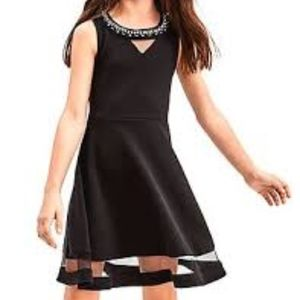 The Children's Place black party dress with jewels
